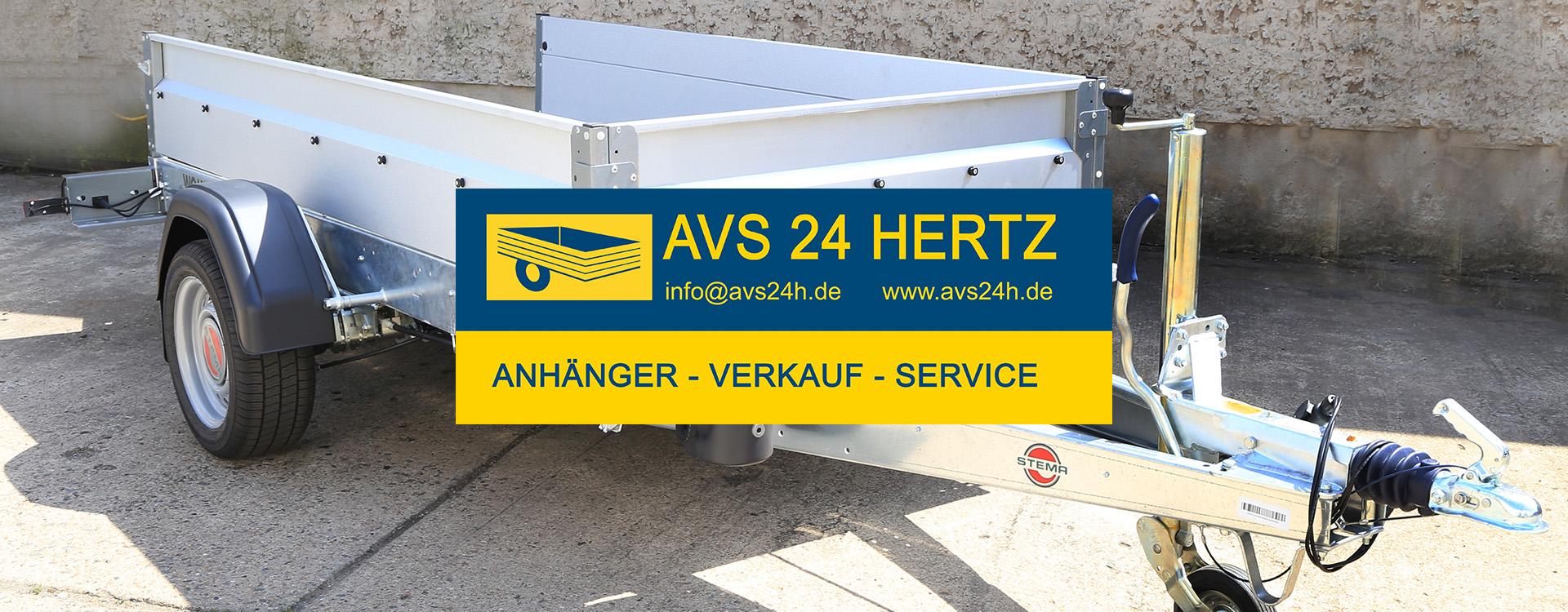 AVS 24H HERTZ - ANHÄNGER - SERVICE - VERKAUF